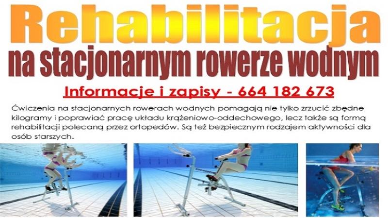 Rehabilitacja na stacjonarnym rowerze wodnym