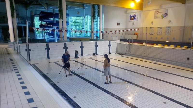 Przestój technologiczny na basenie w roku 2016